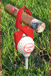 Holds cigars off turf and keeps them dry and chemical free